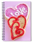 Valentine Hearts Spiral Notebook