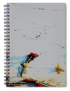 Valentine On The Beach Spiral Notebook