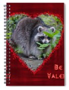 Valentine's Day Greeting Card - Raccoon Spiral Notebook