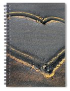 Valentine's Day - Sand Heart Spiral Notebook