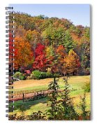 Valley Farm In The Fall Spiral Notebook