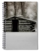 Valley Forge Cabin In Winter Spiral Notebook