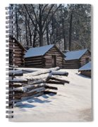 Valley Forge Cabins After A Snow Spiral Notebook