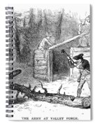 Valley Forge: Huts, 1777 Spiral Notebook