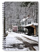 Valley Green In Winter Along Forbidden Drive Spiral Notebook