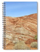 Valley Of Fire - Fire Wave Panorama Spiral Notebook