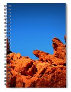 Valley Of Fire Nevada Desert Rock Lizards Spiral Notebook