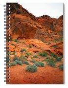 Valley Of Fire Red Sandstone Cliffs Spiral Notebook