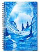 Valley Of The Castles Painting Spiral Notebook