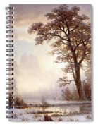 Valley Of The Yosemite Snow Fall Spiral Notebook