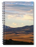 Valley Shadows Snowy Peaks Spiral Notebook