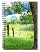Valley View Along Flat Creek Rd Spiral Notebook