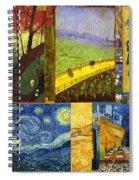 Van Gogh Collage Spiral Notebook