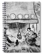 Fireplace, 1889 Spiral Notebook