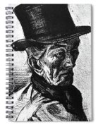 Man With Top Hat Spiral Notebook