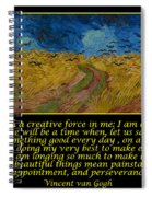 Van Gogh Motivational Quotes - Wheatfield With Crows Spiral Notebook