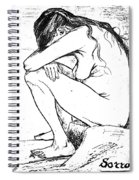 Sorrow, 1882 Spiral Notebook