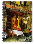 Van Gogh Style Restaurant Spiral Notebook