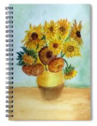 van Gogh Sunflowers in watercolor Spiral Notebook