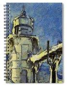 The Frozen Lighthouse Lake Michigan Spiral Notebook