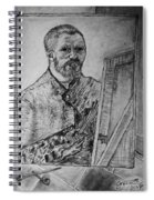 Van Goghs Self Portrait Painting Placed In His Room In Arles France Spiral Notebook