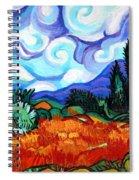 Van Goghs Wheat Field With Cypress Spiral Notebook