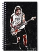 Van Halen-93-mike-gc23-fractal Spiral Notebook