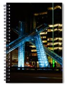 Vancouver - 2010 Olympic Cauldron Lit At Night Spiral Notebook