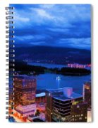 Vancouver At Night Spiral Notebook