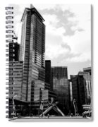 Vancouver Olympic Cauldron- Black And White Photography Spiral Notebook