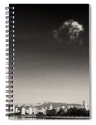 Vancouver Skyline Acloud Over English Bay Spiral Notebook