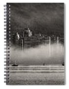 Vancouver Skyline With Fog Over English Bay Spiral Notebook