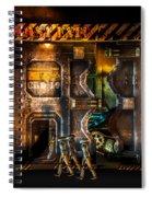 Vanishing Memory Machine Spiral Notebook