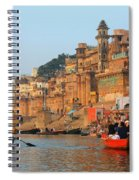 Varanasi From The Ganges River Spiral Notebook