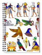 Various Themes Of Ancient Egypt Spiral Notebook
