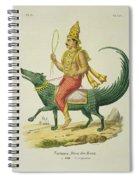 Varuna, God Of The Oceans, Engraved Spiral Notebook