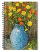 Vase Of Marigolds Spiral Notebook