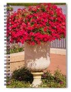 Vase Of Petunias Spiral Notebook