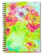Vase Of Spring Flowers Spiral Notebook
