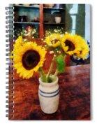 Vase Of Sunflowers Spiral Notebook