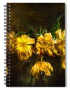 Vase Of Yellow Tulips Spiral Notebook