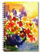 Vase With Multicolored Flowers Spiral Notebook