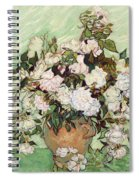 Vase With Pink Roses Spiral Notebook