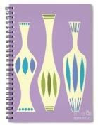 Vases On Purple Spiral Notebook