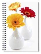 Vases With Gerbera Flowers Spiral Notebook