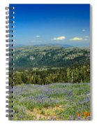 Vast View And Lupine Spiral Notebook