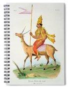 Vayu, Engraved By C. De Motte Spiral Notebook