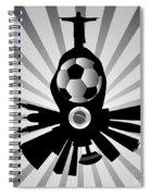 Vector Rio De Janeiro With Jesus Redeemer Spiral Notebook