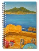 Veduta Di Vesuvio Spiral Notebook