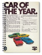 Vega - Car Of The Year 1971 Spiral Notebook